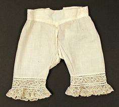 Drawers Date: late 19th century Culture: American Medium: cotton