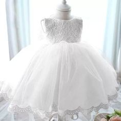 vestido batizado festa bebê menina princesa - pronta entrega