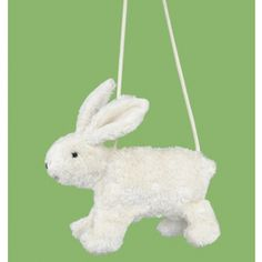 Organic Cotton Bunny Purse made in Germany with 6-in zipper. What sweeter way to carry one's treasures? $32.95