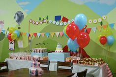 carnival themed 1st birthday party