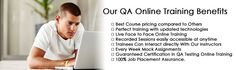 QA Online Training provides job oriented Automation Testing Online Training with testing tools for trainees and make their career potential in testing http://online-training-qa.com/automation-testing-online-training/