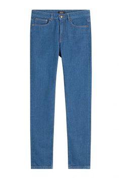 A.P.C. A.P.C. Mittelblaue Straight Leg Jeans – Blau