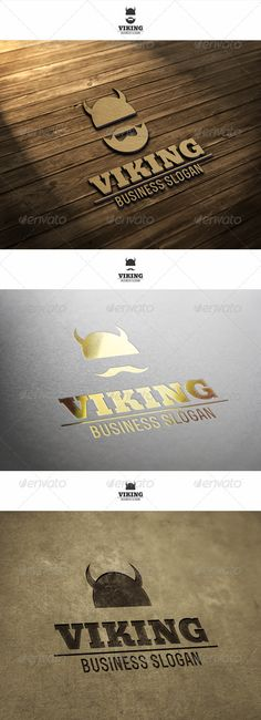 Viking Logo  #GraphicRiver         Viking Logo – Logo is suitable for any creative agency, media or other business… Colors and texts are customizable.  	 Simple, unique and professional logo template suitable for design agencies, programmers, web developers, photography and video studios and agencies, software and applications, websites and blogs, online business, media business, tutorial websites, or anything related to computer and digital.  	 Included : AI, EPS_10, CDR. File is easy to…