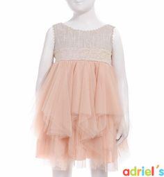 Vestido de ceremonia para niña en color rosa de Teté&Martina.