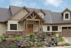 Mascord Plan 22156 - The Halstad - Lodge Style Plan with Generous Master and Kitchen