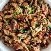 These Crispy Pork Carnitas are seriously bursting with flavor yet so simple to make! This is the meat you want for your tacos, burritos, sandwiches, you name it. It's to die for! Types Of Sandwiches, Gourmet Sandwiches, Pork Ham, Pork Loin, Easy Chicken Fajitas, Homemade Fajita Seasoning, Jo Cooks, Crispy Pork, Carnitas
