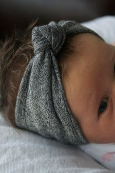 Baby Girl  Infant  Knotted Headband Turban  by MAMAOWLSHOP on Etsy, $13.00