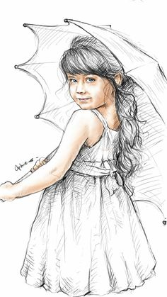 Little girl sketch...by ophie