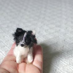 Pet gift Your dog as a cute Pin Gourmet Felted / Custom