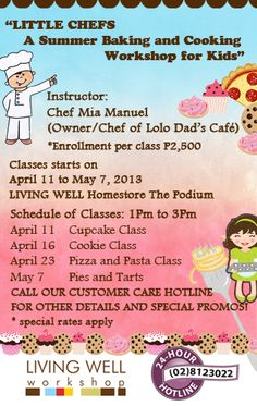 Have baking classes for your kids. Baking Party, Baking With Kids, Baking Classes, Little Chef, Class Schedule, May 7th, Whats New, Chefs, Montessori