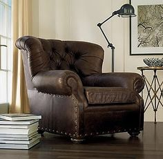 really love big, man-friendly leather chairs
