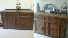 My bargin sideboard. . Before  and  after