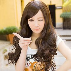 Dark Brown 70cm Classic Lolita Curly Wig (Lace Front) is supple and easy to care.It could bear the high temperature for 180 degree.It incorporates inner cap with high quality.