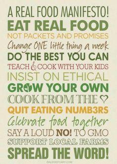 #RealFood #noGMO #Local #Organic #Fresh