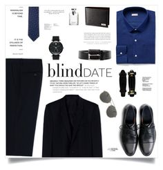 """blind Date"" by makeupgoddess ❤ liked on Polyvore featuring Movado, Cole Haan, Dolce&Gabbana, Bulgari, Nina Ricci, Kerr®, Prada, Dries Van Noten, mens and men"