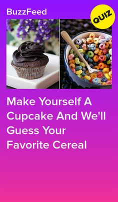 Make Yourself A Cupcake And We'll Guess Your Favorite Cereal Quizzes For Kids, Quizzes Food, Quizzes Funny, Fun Quizzes To Take, The Office Quiz, Best Buzzfeed Quizzes, Interesting Quizzes, Disney Quiz
