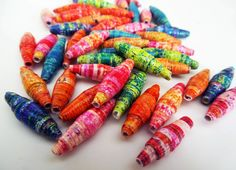 Inky Dinky Doodle: Gelli Print Beads
