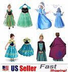 Princess Elsa Anna Frozen Dressup Costume Dress Ball Gown Toddler 2-10 Y #ad