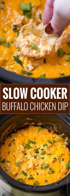 Slow Cooker Buffalo Chicken Dip Recipe | Posted By: DebbieNet.com