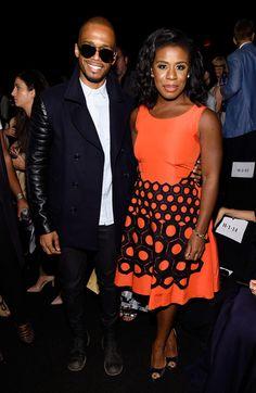 Uzo Aduba Photos: Vivienne Tam - Front Row - Mercedes-Benz Fashion Week Spring 2015