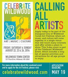@Cultural Festivals Calling all artists: http://cityofwildwood.com/433/Art-Festival… pic.twitter.com/g50M9vHPvv