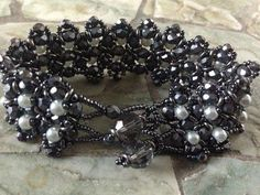 Double Flower Buds Bracelet - Summer Blue and Shades of Grey Versions - YouTube