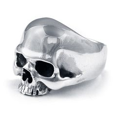 Realistic, detailed silver skull ring with high polishing finish. Skull rings collections exclusively available only by. Mens Skull Rings, Silver Skull Ring, Skull Wedding Ring, Skull Engagement Ring, Skull Jewelry, Jewelry Art, Man Jewelry, Jewelry Shop, Diamond Jewelry