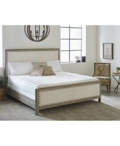 Nature's Spa by Paramount Oasis Latex Plush Pillow Top Mattress Set- California King Extra Firm Mattress, Mattress Sets, Pillow Top Mattress, Queen Mattress, Mattress Pad, Cool Rooms, California King, Bedroom Furniture