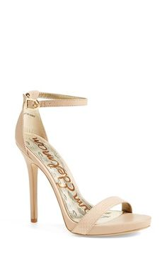Free shipping and returns on Sam Edelman 'Eleanor' Snake Embossed Ankle Strap Sandal (Women) at Nordstrom.com. A daring sky-high stiletto takes this platform sandal to new heights. Snake-embossed leather and a pretty ankle strap keep this look on trend.