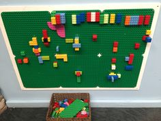 The Trick for Lego Wall Ideas - Dlingoo Play Spaces, Kid Spaces, Preschool Rooms, Lego Wall, Home Daycare, Classroom Organisation, Outdoor Learning, Indoor Play, Creative Play
