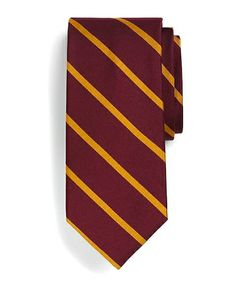 Brooks Brothers Repp Tie burgundy-gold