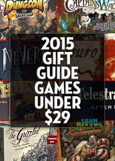 You can complete all your shopping this year just by perusing our various gift guides! These quality games are each available for under $29! - SahmReviews.com