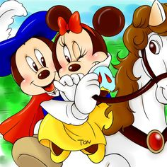 Mickey and Minnie as Snow White and Prince Charming