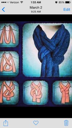How to fold a scarf.