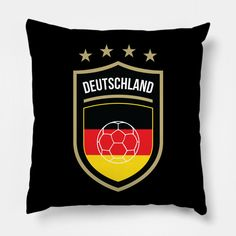 Shop Germany Football germany pillows designed by fimbis as well as other germany merchandise at TeePublic. Germany National Football Team, Germany Football, Frankfurt, World Cup Russia 2018, Home Decor Baskets, North Rhine Westphalia, Fifa World Cup, Pillow Design, Throw Pillows