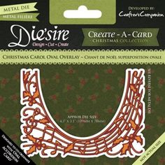 Crafters Companion Diesire Create a Card - Christmas Carol Oval Overlay Ship Craft, Crafters Companion, Cross Stitch Kits, Christmas Carol, Overlays, Card Making, Ebay, Crafty, Card Designs