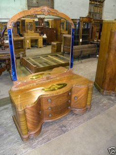 Art Deco Bedroom Set, 1930s 1940s Waterfall Furniture <3 ...