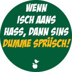"""Sticker """"Dumme Sprüsch"""" – Meine Heimat Hessen von MainSpatzen auf DaWanda.com"""