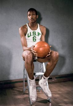 Bill Russell Greatest Champion of Team Sports. 2 NCAA Championships, Olympic Gold and 11 NBA Championships in 13 yrs not bad in 15 yrs of WORK! MJ is the only one close. Basketball Jones, Football And Basketball, College Basketball, Basketball Players, Baseball Games, Russell Young, Bill Russell, Nba Championships, Boston Sports