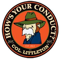 """FREE """"How's Your Conduct"""" Col. Littleton Decal! on http://hunt4freebies.com"""