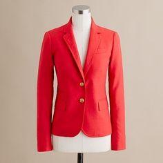 Women's new arrivals - blazers & vests - Schoolboy blazer in wool flannel - J.Crew - StyleSays