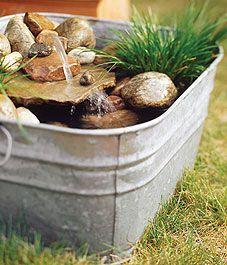 Construir un oasis de agua mini jardín