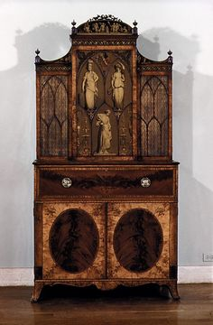 Secretary and bookcase. 1775 Maker unknown  If only they had signed their names on the back of their masterpieces ..