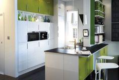 mueble de cocina tipo IKEA negro verde - Buscar con Google