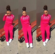♛ píntєrєѕt @icedoutche Cute Swag Outfits, Chill Outfits, Pink Outfits, Dope Outfits, Trendy Outfits, Black Girl Fashion, Teen Fashion, Fashion Outfits, Winter Outfits For Teen Girls