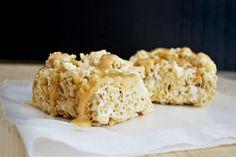 Dulce De Leche Rice Krispy Treats - Gooey caramel marshmallowy goodness in every bite!