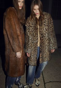 Jeans and furs.