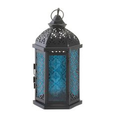 Candle Lantern Light Blue Gothic Romantic Home Decor #HomeLocomotion