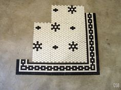 Vintage floor tile pattern
