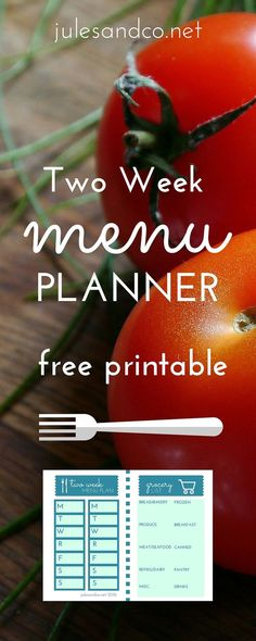 Do you need to step up your meal planning game? Make it easy with this free printable menu planner and grocery list. Get intentional about menu planning, start today!